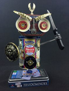 Hey, I found this really awesome Etsy listing at https://www.etsy.com/listing/230566527/found-object-robot-sculpture-private