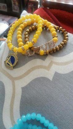 Golden State Warriors bracelet set