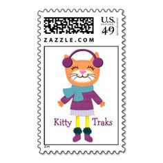 Kitty Cat Music Custom Postage Stamp. Wanna make each letter a special delivery? Try to customize this great stamp template and put a personal touch on the envelope. Just click the image to get started!
