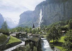 I've definitely been here!!! Did a Contiki trip!! It is an absolutely beautiful place!!! ..Staubbach Falls, Lauterbrunnen, Bernese Oberland, Switzerland.