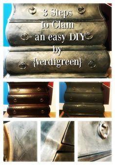 Mercury Glass Bombé Chest | Chalk Paint® by Annie Sloan | Verdigreen™ #anniesloan #chalkpaint #mercuryglass #custom #paintedfurniture #DIY #howtopaintfurniture