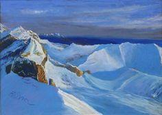 """Fabrice TIXIER """"Vue du Taillon le Mont Bazillac"""" pastel 29.5 x 41.5"""
