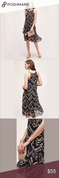 """Anthropologie Rococo Midi Dress by HD In Paris In excellent condition! Chest- 16 1/2"""" Length from back of the neck to bottom of the dress- 39"""" Anthropologie Dresses Midi"""
