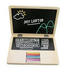 Wooden Notebook Blackboard available online at Little Boo-Teek! Boutique online store - for the little kid with BIG personality!