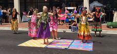 Dancing and sharing hula at the Main Street event in Spartanburg SC