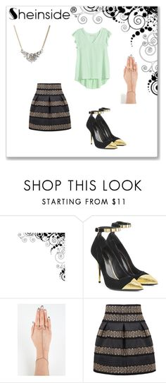 """Outfit 342"" by kalexandria123 ❤ liked on Polyvore featuring Balmain and Chicwish"