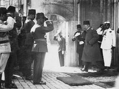 The last Ottoman Caliph departs Dolmabahçe Palace, 1923