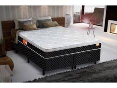 Cama Box Queen Size (Box + Colchão) Inducol Mola - 67cm de Altura Pro Comfort com as melhores condições você encontra no Magazine Maxeletrotop. Confira!