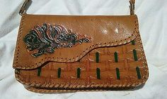 Leather Purse Artisian Hand Crafted Southwestern