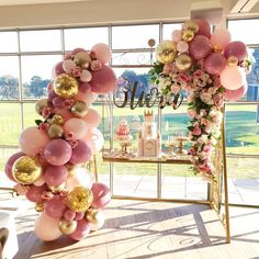 Pink and Gold Balloons, 44 pcs Light Pink Balloons Fuschia Balloons Gold Metallic Balloons Gold Confetti Balloons and Giant Balloon for Princess Party, 4 pcs Pink Giant Balloons Included Balloon Garland, Balloon Decorations, Birthday Party Decorations, Birthday Parties, Wedding Decorations, Elegant Birthday Party, Quince Decorations, Balloon Arch, 21st Decorations