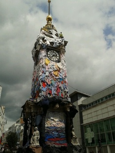 The brighton clock tower. May festival 2013. thought this was the stupidest thing ever, but so brighton.