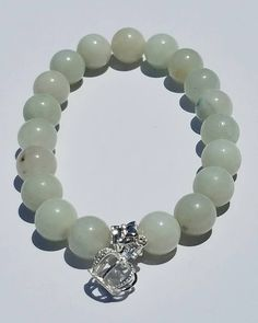 Amazonite with Royal Crown Crown Royal, Natural Gemstones, Beaded Bracelets, Couture, Beads, Jewelry, Beading, Jewlery, Jewerly