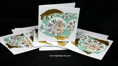 Holiday Snowflake Mini Cards (5) Vintage Music Design by YourSongDesigns on Etsy