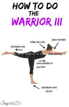 How to Do the Warrior III ❤ www.SexyYogaSchool.com ❤ #yogi #yoga #sexyyoga #yogapose