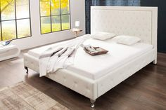 Double bed with drawers 180 215 200 Chesterfield, Bedroom Furniture, Bedroom Decor, Diy Crib, Leather Bed, Bed With Drawers, Interior Decorating, Interior Design, Double Beds