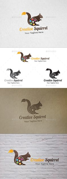 Creative Squirrel - Logo Template