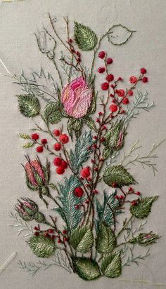 Wonderful Ribbon Embroidery Flowers by Hand Ideas. Enchanting Ribbon Embroidery Flowers by Hand Ideas. Embroidery Designs, Crewel Embroidery Kits, Hardanger Embroidery, Japanese Embroidery, Silk Ribbon Embroidery, Hand Embroidery Patterns, Cross Stitch Embroidery, Embroidery Needles, Embroidery Supplies