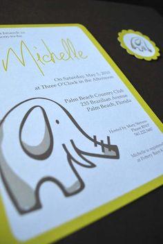 Modern Personalized DIY Baby Shower Invitation by FreshLinenPress, $10.95