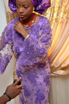 Purple Aso Ebi | Aisle Perfect