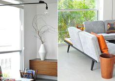 Wooden teak, modern couch