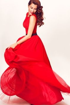 Turkish model....anyone can wear red and look divine.
