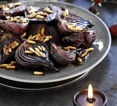 Baked red onions in balsamic - GoodFood Magazine