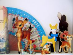 From Emily Chalmers' Modern vintage style - wish I'd kept my Babysham deers I used to keep as ornaments on my dressing table as a girl