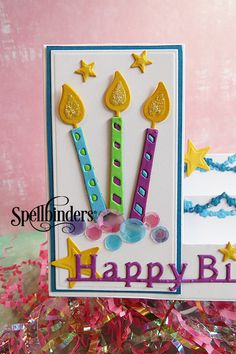 Happy Birthday Step Card | Spellbinders