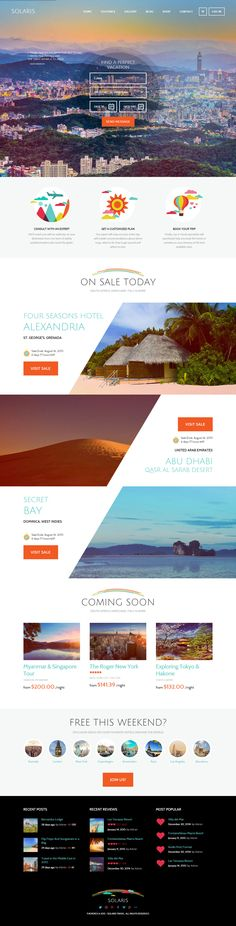 Solaris is Premium full Responsive Retina #WordPress #Travel Theme. Visual…