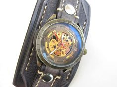 Leather Cuff Watch Watch Band Leather Bracelet