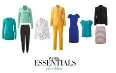 Work Essentials Checklist: the items every working woman needs in her closet.