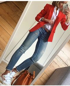 Hijab Fashion 775041417110882077 - De por Source by kirazdil casuales tenis mezclilla Source by amaryllisrun with leggings for school Crop Top Outfits, Casual Work Outfits, Blazer Outfits, Sporty Outfits, Mode Outfits, Korean Outfits, Work Casual, Trendy Outfits, Girl Outfits