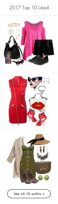 """""""2017 Top 10 Liked"""" by kaylyn-80864 ❤ liked on Polyvore featuring Cloverpost, Nadri, Emilio Pucci, Clarks, Dolce&Gabbana, CÉLINE, Dsquared2, Tiffany & Co., Eddie Borgo and Kendall + Kylie"""