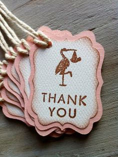 Baby Shower Thank You Tags Stork
