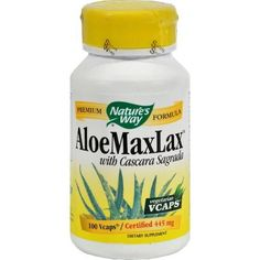 Nature's Way Aloemaxlax With Cascara Sagrada - 100 Vegetarian Capsules - 0356188