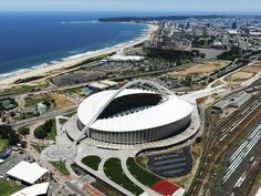 Durban can be described as the South Africa's Miami Beach, only this time better because it is in Africa! Below is a number of tourist attractions in Durban Durban South Africa, Soccer Stadium, Football Stadiums, British Lions, Kwazulu Natal, Pretoria, Beautiful Places, Places To Visit, Construction