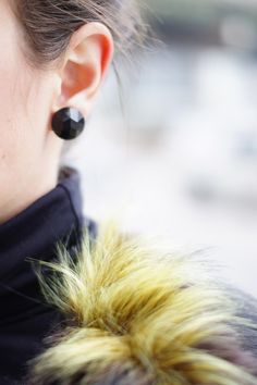 Black Stud Earrings by MoonRox. Image from Threads and Blooms.