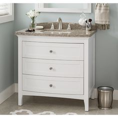Image Gallery Website Shop allen roth Brisette Cream Undermount Single Sink Poplar Bathroom Vanity with Cultured Marble Top