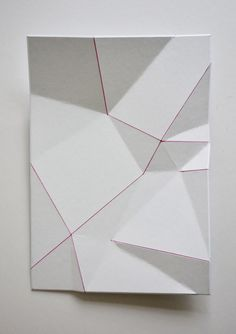 "sometimes-now: ""Chen Harland "" Folding Architecture, Polygon Art, Paper Engineering, Paper Crafts Origami, 3d Wall Art, Paper Folding, Geometric Art, Illustration, Artwork"