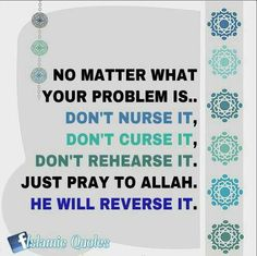 Allah solves all our problems