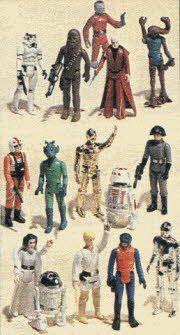 Vintage 1980's Star Wars Figure Set