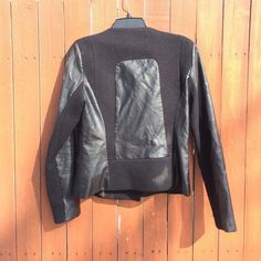 Zara Jackets & Coats - Zara Leather/ tweed Motorcycle jacket