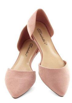 Lovely light pink flats fashion   Beautiful Womens Fashion