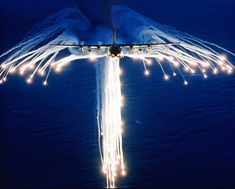 From Wikiwand: A Hercules deploying flares, sometimes referred to as Angel Flares due to the characteristic pattern.