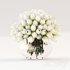3d models: Plant - Tulips in a vase