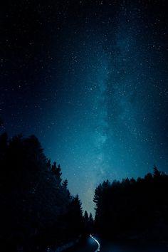 night sky full of stars. Milky Way.