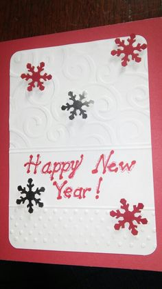 Rose's New Year card