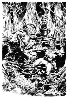 Roy Thomas suggested me to create an illustration based on Michael T. Monster Characters, Deviantart, Black And White, Abstract, Illustration, Artwork, Painting, Google Search, Witches