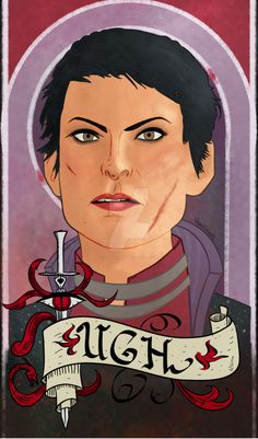 Tarot card inspired, art nouveau inspired portrait of Cassandra Pentaghast from Dragon Age Inquisition. Ugh. Also available on cute shirts, leggings, scarves and skirts. And stickers and prints too...