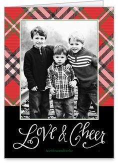 Cheery In Plaid 5x7 Folded Card by Petite Lemon | Shutterfly